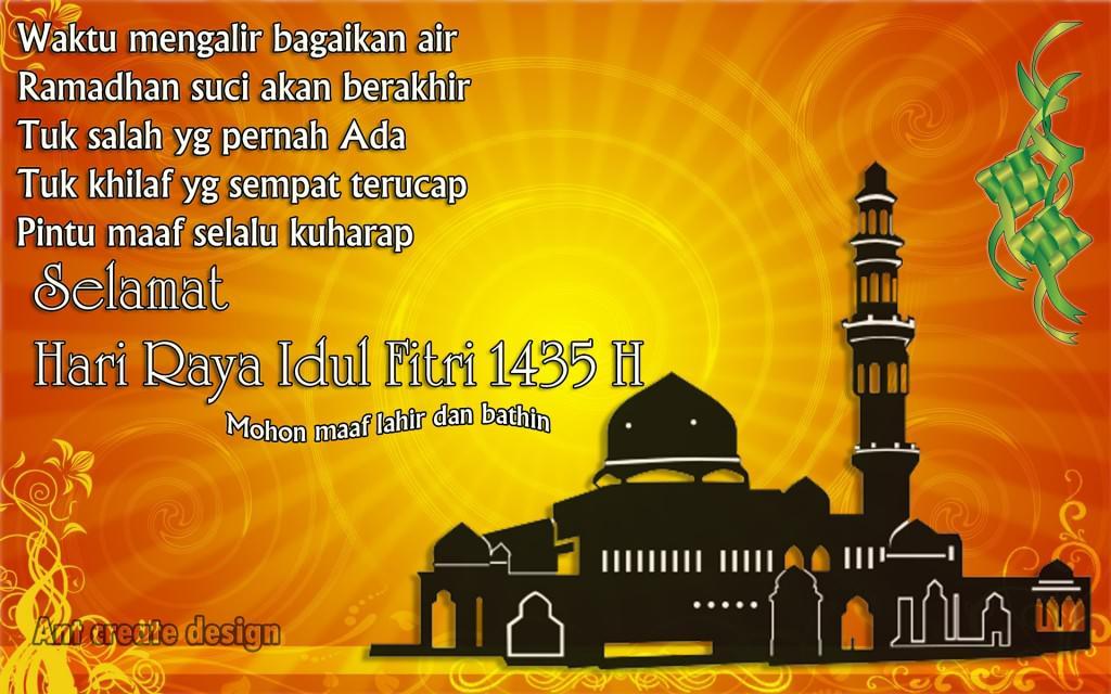 Selamat Hari Raya Idul Fitri 1435 H Ummu Yasir Syahrul Hasna